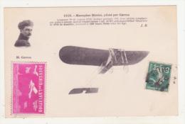 """AVIATION - MONOPLAN BLERIOT, PILOTE PAR GARROS - AVEC SUR LE DEVANT TIMBRE """"SOUVENIR DE L'AVIATION"""" - - ....-1914: Vorläufer"""