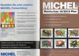 MICHEL Briefmarken Rundschau 10/2013 Plus Neu 5€ New Stamps World Catalogue And Magacine Of Germany ISBN 4 194371 105009 - German