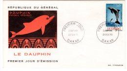 TIMBRE - SENEGAL - LE DAUPHIN ENVELOPPE 1er JOUR 21 FEV. 1970 - ETAT TRES BON - Sénégal (1960-...)