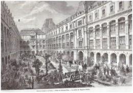 Gravure De  1867  PARIS    Place Du Chateau D Eau    LES MAGASINS REUNIS - Non Classés