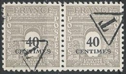 FRANCE - Taxes Préoblitérées - 2 Arc De Triomphe Bicolores Neufs Surchargé T Dans Un Triangle En Paires - 2scans - Taxes