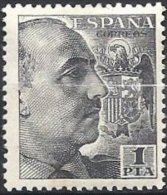 ESPAGNE - 1 Pta Noir Franco Neuf - 1931-50 Neufs