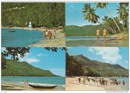 SEYCHELLES Beau Vallon Beach Mahe Fishermen Netting Mackerel 4 Cards 1985 - Seychellen