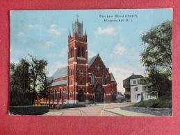 Woonsocket,RI--Precious Blood Church--cancel No Year--PJ 289 - Etats-Unis