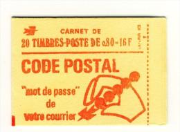 Carnet Bequet 0.80fr Rouge Sans Phosphore YT 1816-C5 Presse 6 Petits Pointillés. Cote YT 160 € ,  Maury N° 397 B : 165 € - Carnets
