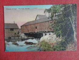 Machias,ME--Covered Bridge--cancel 1931--PJ 289 - United States