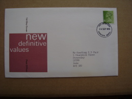 GREAT BRITAIN 1975  DEFINITIVES ILLUSTRATED OFFICIAL  FDC With ONE VALUE. - FDC