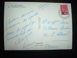 CP PAR AVION POUR LA FRANCE TP MARIANNE DE BEQUET 0,50F SURCHARGE 25F CFA OBL. 6-9-1974 ST GILLES LES BAINS (974 REUNION - 1971-76 Marianne Van Béquet
