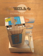 PRESENTOIR RIZLA + FILTRES EN STICKS PRATIQUES PORTABLES FORMAT SLIM QUALITY ROLLING - Around Cigarettes