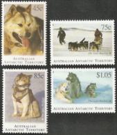 Australia Antartic Terr,  Scott 2014 # L90-L93,  Issued 1994,  Set Of 4,  NH,  Cat $ 8.15,  Dogs - Australian Antarctic Territory (AAT)