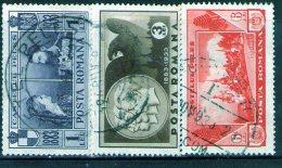 1933 - Chateau Royal De Sinaia  Michel 462/464 Et Yv 465/467 - Usado