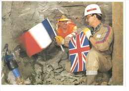 EUROTUNNEL Première Jonction Historique Sous La Mer Tunnel Photo Q.A éditions Galaxy Contact Calais - Ouvrages D'Art