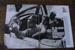 """4 Pages..reportage...GIL DELAMARE Ses Cinq Dernieres Minutes """"cascadeur""""  ..voir Photos - Vecchi Documenti"""