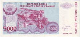 Croatia Srpska Krajina (Knin) 5.000 Dinara 1993 - Croatia