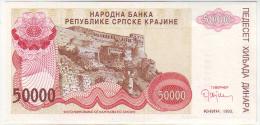 Croatia Srpska Krajina (Knin) 50.000 Dinara 1993 - Croatia