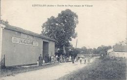 CPA Lentilles - Entrée Du Pays Venant De Villeret - Vins Et Spiritueux J Alaguillaume - France