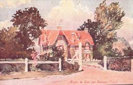 95 MOULIN DE GIEZ PAR VIARMES ILLUSTRATION CIRCULEE 1906