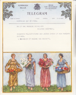 BELGIQUE -TELEGRAMME ILLUSTREE -ANNEE1952-CACHET AU DOS KORTRIJK - Telegraph