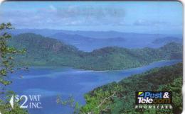 FIDJI 1ER CARD PAYSAGE LANDSCAPE OF PARADISE 2$ UT N° 01FJB..... - Fidji