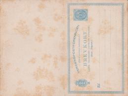 ANTILLES DANOISES - CARTE ENTIER POSTAL Avec REPONSE PAYEE NEUVE Mais MAUVAIS ETAT - Danimarca (Antille)
