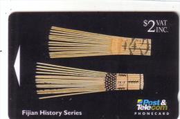 FIDJI FIJIAN HISTORY  ARTIFACTS 2$ UT N° 06FJB..... - Fidji