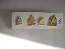 PIN´S - LA POSTE   Lot De 4 Pin's - Voilier Different La Poste- Voir Photo ( 6 ) - Postes