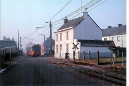 TRAM 90-ANDERLUES-LIGNE CHARLEROI-LA LOUVIERE-automobile Citroën DS - Anderlues