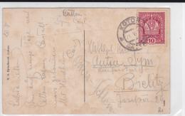 MONTENEGRO - 1911 - CARTE De KOTOR (CATTARO) ADMINISTRATION AUTRICHIENNE Pour BIELITZ (SILESIE) - Montenegro