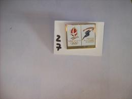 PIN´S -  LA POSTE  ALBERTVILLE Jeux Olympique D'hiver 1992  Parcours De La Flamme Olympique  - Voir Photo ( 27 ) - Postes