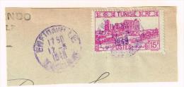 Tunisie Oblitération ENFIDAVILLE En Violet - Covers & Documents