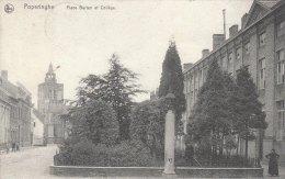 Cpa/pk 1910 Poperinghe Poperinge Place Berten Et Collège Nels Timbre Caritas - Poperinge