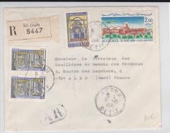 ALGERIE - 1971 - ENVELOPPE RECOMMANDEE AR De AKBOU Pour ALES - Algérie (1962-...)