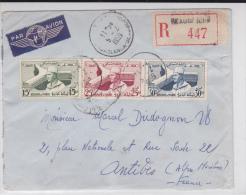 MAROC - 1959 - ENVELOPPE RECOMMANDEE Par AVION De CASABLANCA BEAUSEJOUR Pour ANTIBES - Morocco (1956-...)