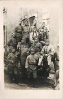 CARTE PHOTO : DOLE 4eme REGIMENT D'INFANTERIE CANON PIECE D'ARTILLERIE GUERRE - War 1914-18