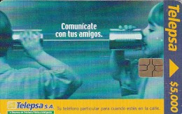 Colombia, COL-TE- 053, 5.000$, Lets Talk With Friends, Children., 2 Scans. - Colombia
