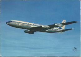 AVION . BOEING 707 B INTERCONTINENTAL D AIR FRANCE EN PLEIN VOL