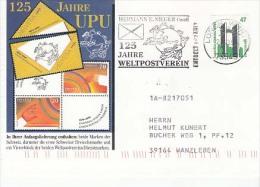 Germany Postcard & Stamp, Post Mark UPU (Z-555) - U.P.U.
