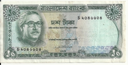 BANGLADESH 10 TAKA ND1972 VF P 11 - Bangladesh