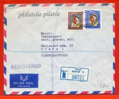KOWEIT LETTRE RECOMMANDEE DE 1971 DE SAFAT POUR PRAGUE TCHECOSLOVAQUIE - Kuwait