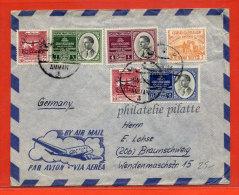 JORDANIE LETTRE DE 1953 DE AMMAN POUR BRUNSWICK ALLEMAGNE - Jordanie