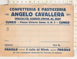 PO1977C# CEDOLA DI CONSEGNA CONFETTERIA E PASTICCERIA ANGELO CAVALLERA SPEC. CUNEESI CREMA AL RUM - CUNEO - Fatture
