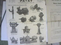 Document 1905-1930: Mensuel Sur La Maréchalerie (16p) + Pub PATAY M.élec. + Plan M.Agricole PLATT - Machines