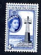 6252x)  Cayman 1953  ~ SG # 155  Mnh**~ Offers Welcome! - Caimán (Islas)