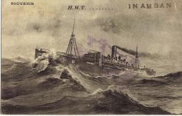 -Navire - INAMBAN Cie H.T.M Transport De Troupes Et Chevaux Pour Salonique.Témoignage écrit Du Soldat 1917-( 2 Scanns) - To Identify