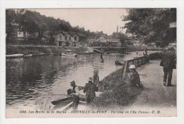 Carte Postale, Joinville-le-pont, Les Bords De La Marne, Un Coin De L'ile Fanac (animation, Cannes à Peche à Louer) - Joinville Le Pont