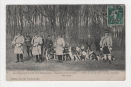 Carte Postale, Casse à Courre En Foret De Compiègne, Equipage Du Prince Murat, La Meute Au Rendez Vous, Carrefour D'Aumo - Compiegne