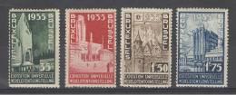 BELGIE - OBP Nr 386/389 - Expo Brussel 1935 - MH* - Cote 14,00 € - Belgium