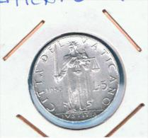 VATICANO - 5 Liras 1953  KM51 - Vaticano (Ciudad Del)