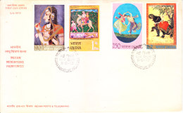 India First Day Cover 05.05.1973 - Indian Miniature Paintings - FDC