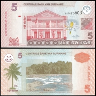 SURINAME 5 DOLLARS 2004 P 157 UNC - Surinam